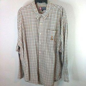 Ralph Lauren chaps mens plaid shirt XL